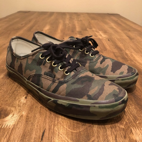 2e8b7f59fe28d Vans Shoes | Authentic Mono Olive Camo Skate 95 | Poshmark